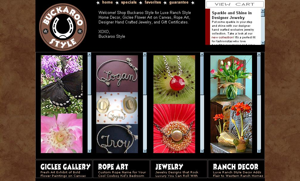 BUCKAROO STYLE : BUCKAROO STYLE HOME PAGE SCREEN SHOT :  exclusive art mothers day gifts buckaroo style specials and perks discounts