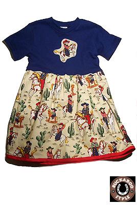 BUCKAROO STYLE BUCKAROO BABY GEAR COWGIRL TEE DRESS