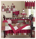 Casey's Cabin Theme Baby Bedding 9 piece Crib Set