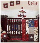 Wild West Cowboy Baby Bedding 9 piece Crib Set